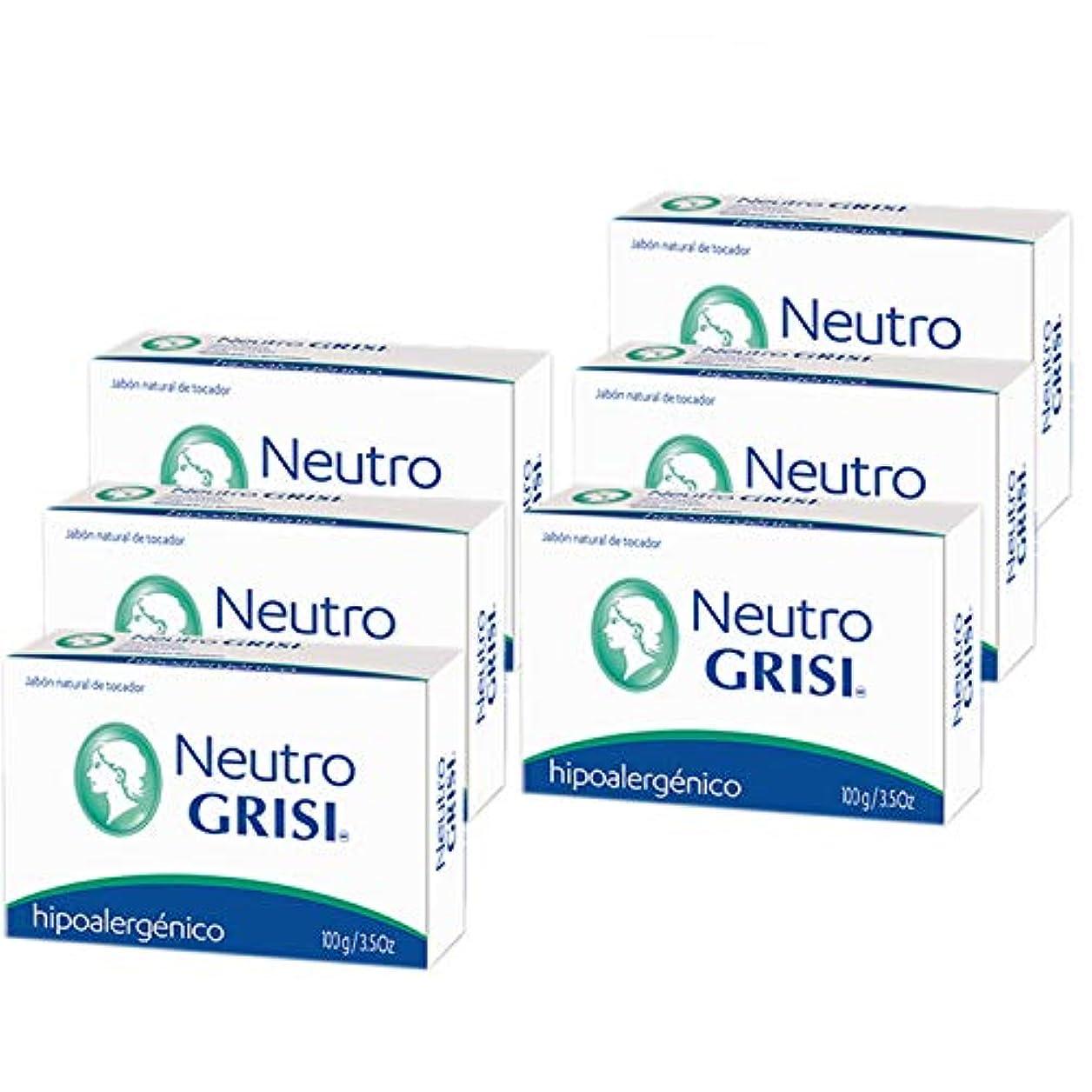 薄める祝福するベルベットGrisi 6PK - 中性石鹸 - 低刺激性 - Jabon Neutro -