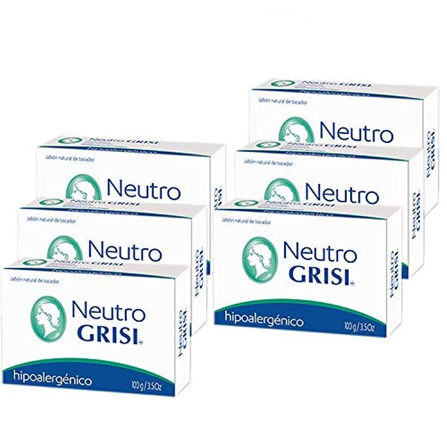 遅い過去お肉Grisi 6PK - 中性石鹸 - 低刺激性 - Jabon Neutro -
