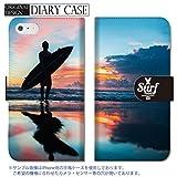 301-sanmaruichi- Galaxy S9 ケース SC-02K SCV38 カバー ギャラクシー S9 ケース 手帳型 おしゃれ surf サーフ サーフィン パームツリ..