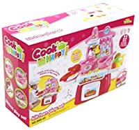 Toddler Kitchen Cooking play set - best cooking pretend play set for 3+ kids 22pc collection of kitchen top with stove burners and oven, operates with light & sound, food items, vegetables and fruits [並行輸入品]