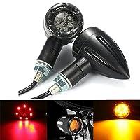 DADANGSH ペアユニバーサルオートバイLEDターンシグナルインジケータライトブレーキリアランニングランプ LEDカーライト