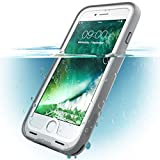 i-Blason iPhone8 / iPhone7 ケース 完全防水 アイフォン8/ 7 両面ケース 360度フルカバー (ホワイト)
