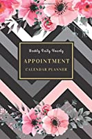 Weekly Daily Hourly Appointment Calendar Planner: Appointment Book (Two Years, 107 Weeks Plan) for Salons, Spas, Hair Stylist, Consultancy Elegance Black Pink Floral with Hourly 30 Minutes Schedule
