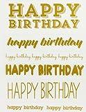 花岡 シール PI Original Little B 転写シート 文字色ゴールド・ホワイト各1シート HAPPYBIRTHDAY・100647
