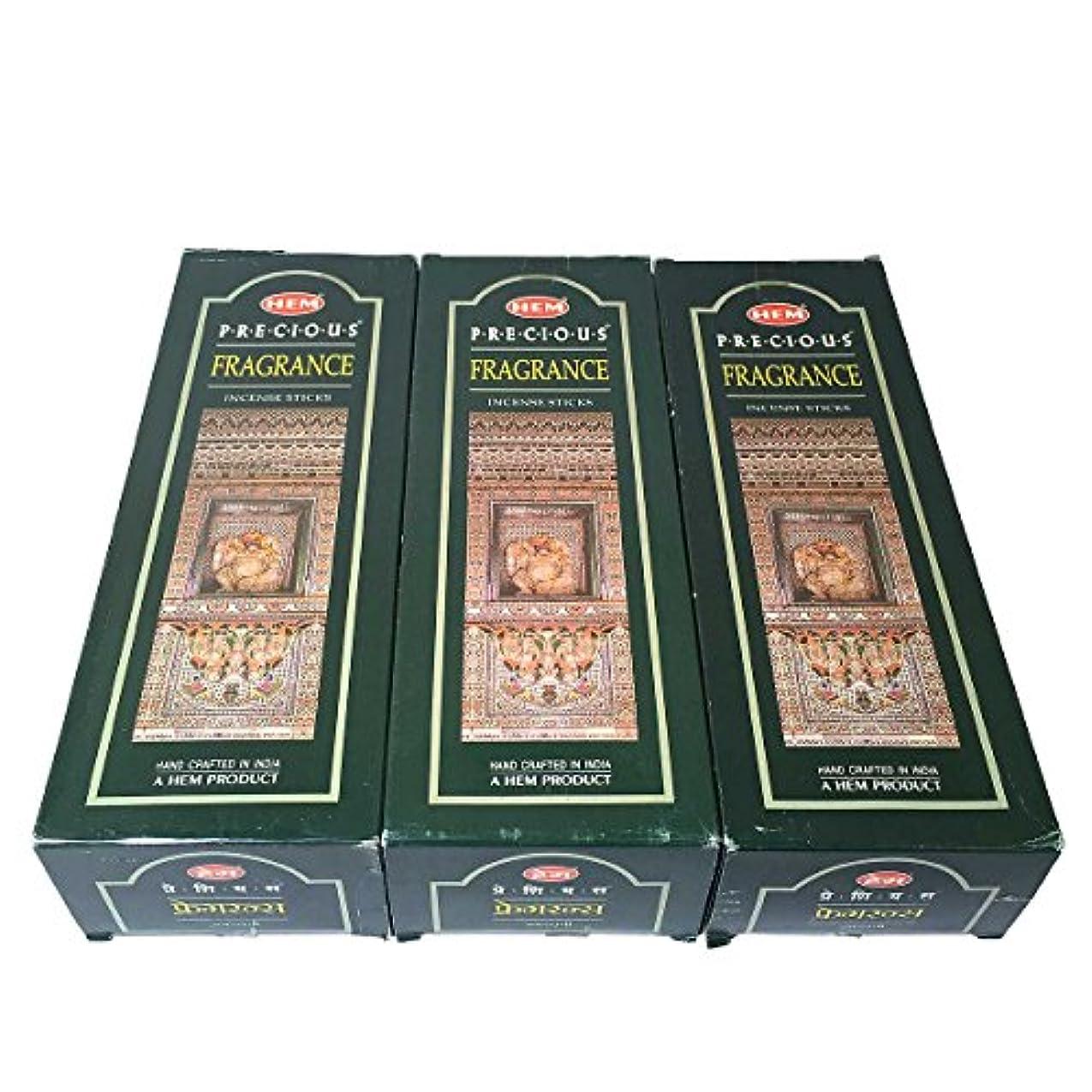 吸い込む直感パッドプレシャスフレグランス香スティック 3BOX(18箱) /HEM FRAGRANCE/インセンス/インド香 お香 [並行輸入品]