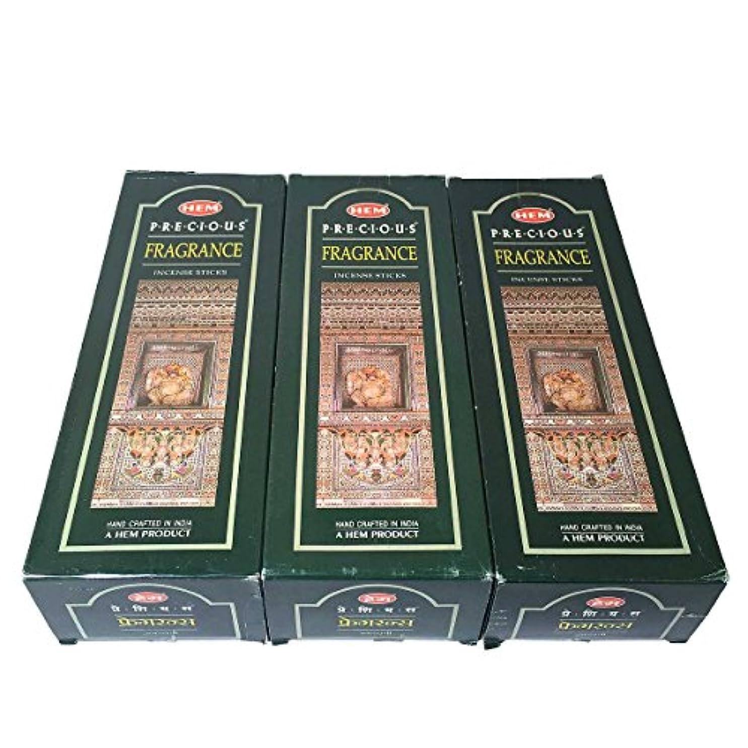 一晩野心的初期のプレシャスフレグランス香スティック 3BOX(18箱) /HEM FRAGRANCE/インセンス/インド香 お香 [並行輸入品]