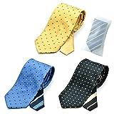 メンズ ウーノ 洗えるネクタイ 3本セット 洗濯ネット1個付き 撥水加工 ウォッシャブル加工 unh-3set コモン