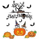 雰囲気満点 ハロウィーン 魔女 かぼちゃ ステッカー 楽しく飾り付け 貼って剥がせる 壁紙シール 装飾 WSS