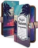 Galaxy S9 SCV38 ケース 手帳型 ビーチ ブラック 景色 サンセット スマホケース ギャラクシー エスナイン 手帳 カバー galaxys9 scv 38..