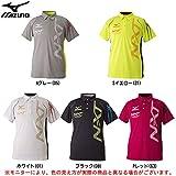 (ミズノ)MIZUNO トレーニングウェア ポロシャツ [ユニセックス] 32MA7080 01 ホワイト×ブラック XL