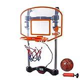 MRG バスケットゴール 実況機能 得点表示機能搭載 室内 練習 日本語説明書付き (オレンジ)