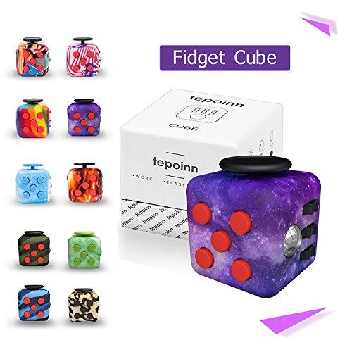 Tepoinn Fidget Cube フィジェットキューブ フィジェットトイ ストレス解消キューブ 品質保証 不安解消 キューブ 緊張解消キューブ 減圧多機能手持ちおもちゃ 焦り緩和 落ち着き 集中力を高める 気分転換 情緒調節 ABS樹脂 プレゼント クリスマスギフト