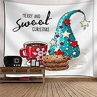KTYXDE クリスマススノーフレークぶら下げ布タペストリーテレビの背景壁の壁アート壁の装飾3Dデジタル印刷壁カバー壁画毛布ホーム寝室リビングルーム子供部屋タペストリー タペストリー (色 : 006)