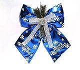 【ELEEJE】 手軽にクリスマスを楽しもう!! リボン型 クリスマス オーナメント (ブルー)