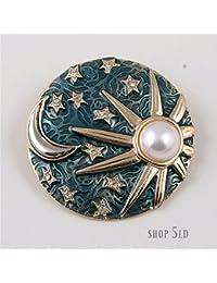 shop 5ld アンティーク風 太陽 月 星 ブローチ