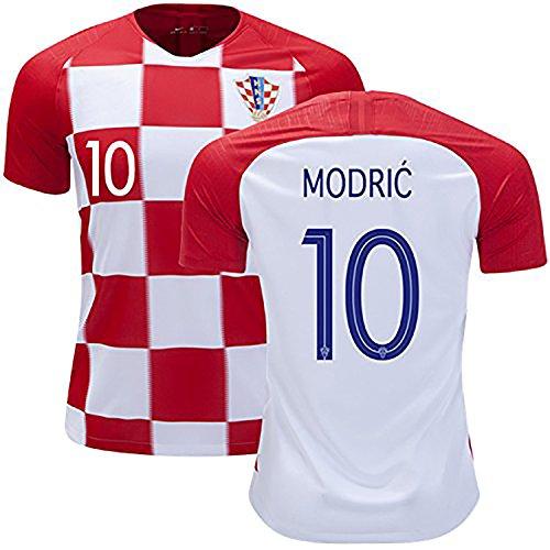 ワガワガ サッカークロアチア代表ワールドカップ2018ホーム半袖ユニフォーム ホーム No.10 MODRIC M