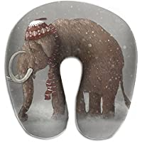 Merlin Quintina 象 ゾウ 冬 ウール帽子 抱き枕 U字型クッション 首枕 ネッククッション 旅行ピロー360度快適な睡眠 子宮頸椎 保護 ポータブル
