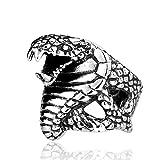 メンズレディースパンクゴシッククールCobra Snake Goldenヘッド316lチタン鋼リング