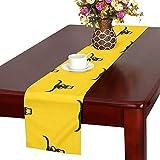 GGSXD テーブルランナー かわいい 牛 クロス 食卓カバー 麻綿製 欧米 おしゃれ 16 Inch X 72 Inch (40cm X 182cm) キッチン ダイニング ホーム デコレーション モダン リビング 洗える