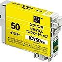 エコリカ エプソン(EPSON)対応 リサイクル インクカートリッジ イエロー ICY50 ECI-E50Y