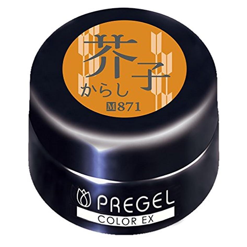 そのラッシュ地図PRE GEL カラーEX 芥子871 3g UV/LED対応