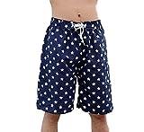 (カエナリエ)水着メンズサーフパンツハーフ丈ビーチパンツネイビー星柄(2.XXLサイズ)