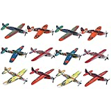 [Kidsco]Kidsco Flying Glider Planes Toy For Party, Kids & All Ages Hand Launch Easy Assembly Styrofoam Assorted, 8 Inch By 743841486489 [並行輸入品]