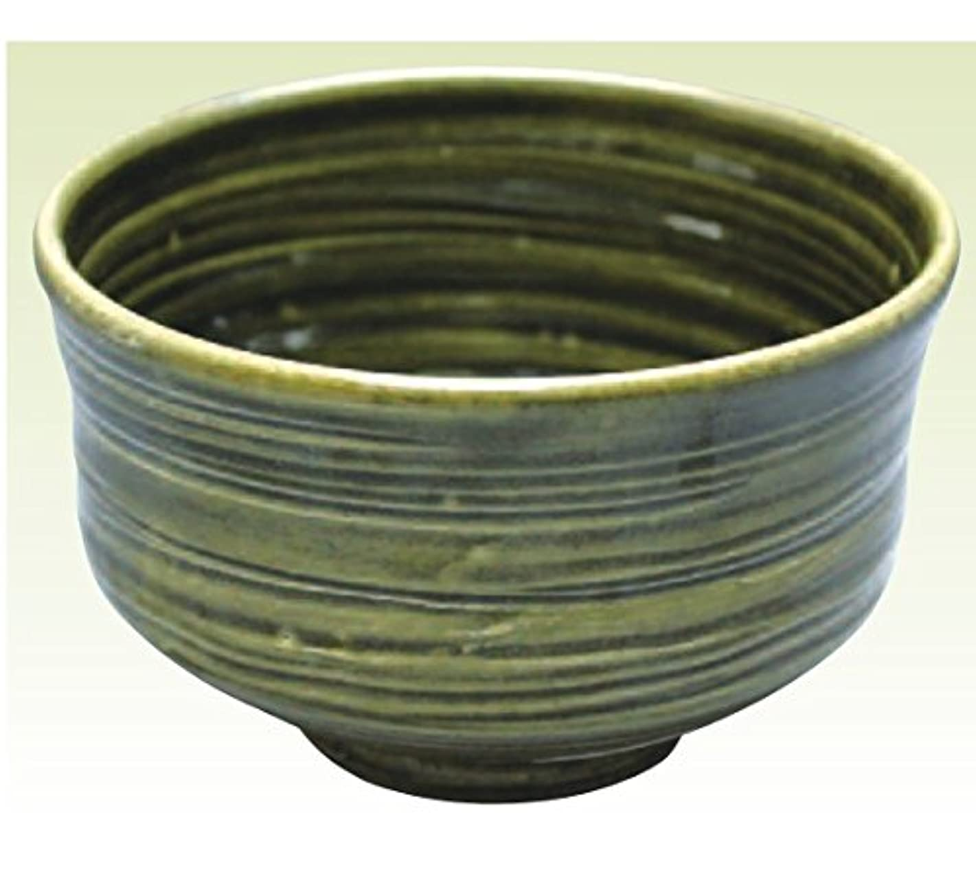 祖先引き出しすすり泣き常滑焼 焜清作 抹茶茶碗織部径13×高さ8cm