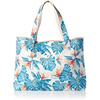 Roxy Women's All Things Printed Tote Bag, BRIGHT WHITE MIDNIGHT PARADISE, 1SZ