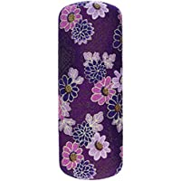 Japanese Floral Print Flowers Purple Eyeglasses / Sunglasses Hard Shell Case