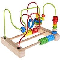 yuuups 木製 幼児 おもちゃ サークル ビーズ 迷路 教育玩具 子供向けギフト 組み立てエンジニアリング 男の子 女の子 年齢 3 4 5歳以上 クリエイティブで楽しいキット 子供へのギフトに最適