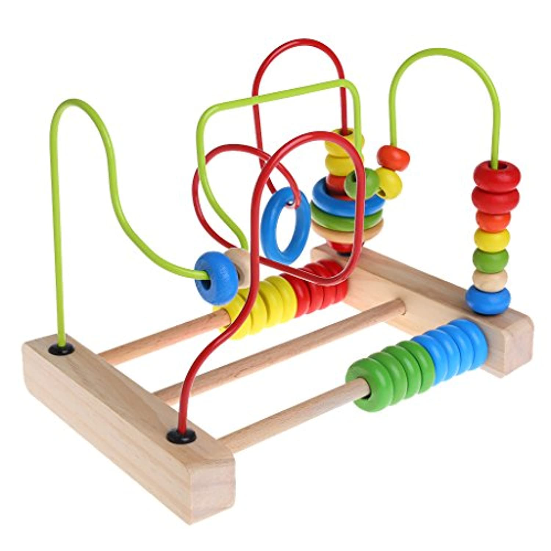 BCHZ Wooden Toddler Toys Circle Bead Maze Educational Toys