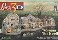 Puzz3D Norman Rockwell Main Street - Stockbridge at Christmas 174 Piece Puzzle [並行輸入品]