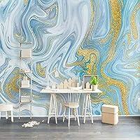 Wxmca カスタム壁画壁紙3Dエンボス加工ブルーテクスチャ大理石の壁紙ファッション高級ラインリビングルームテレビソファ家の装飾-120X100Cm