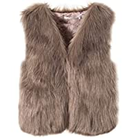 SWHRIOPD Women's Faux Fur Vest Gilet Coat Waistcoat Sleeveless Jacket Warm Winter