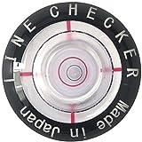 高精度&薄型水平器付 ボールマーカー ラインチェッカー NEWデザイン (黒)