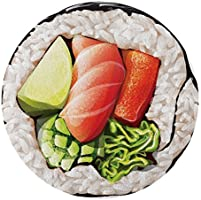 Round Towel Co. Sushi Roll Round Beach Towel 100% Cotton Roundie Cali Sushi Roll Circle Beach Blanket Gigantic Terry...