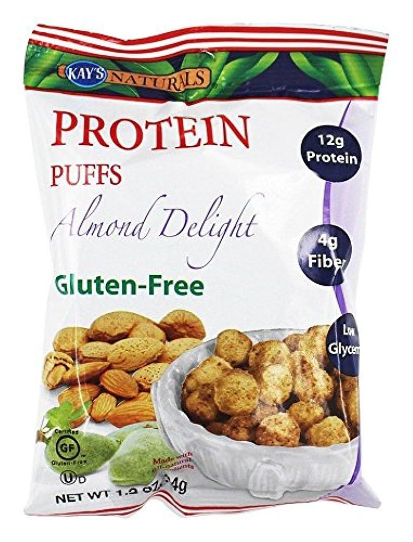 サロン追加する学んだKay's Naturals Protein Puffs, Almond Delight, 1.2 ounces (Pack of 6) by Kay's Naturals [並行輸入品]