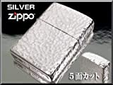 手彫りのようなシルバー仕上げ つち目Zippo 5面柄