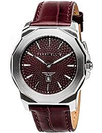 [ペリー・エリス]Perry Ellis 腕時計 DECAGON(デカゴン) クォーツ 42 mmケース 本革バンド 08003-01 メンズ 【正規輸入品】