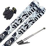 スキー4点セット SWALLOW 12-13 PS-4 170cm ストック120cm メンズグローブ