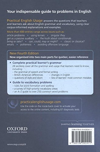 『Practical English Usage, 4th edition: (Hardback with online access): Michael Swan's guide to problems in English』の1枚目の画像