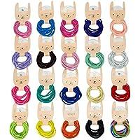 BIANHUAN ヘアゴム こども ベビー ヘアアクセサリー 200本 セット 子供 髪ゴム 髪飾り キッズ 赤ちゃん かみどめ かみかざり 髪飾り 誕生日 プレゼント (B)