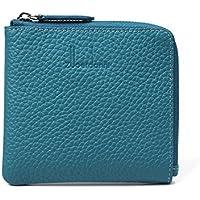 財布 レディースウォレットレザーショートミニウォレットコインケース レジャー財布 ( Color : Lake Blue )