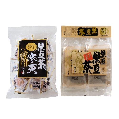 黒豆茶 寒天 【220g入】と遊月亭 発芽焙煎 黒豆茶 【テ...
