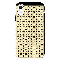 iPhoneXR iPhoneケース (ハードケース) [カード収納/耐衝撃/薄型] Dots(P/BK) CollaBorn