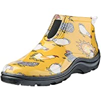 Sloggers Women's Waterproof Rain and Garden Ankle Boot with Comfort Insole, Chickens Daffodil Yellow, Size 6, Style 2841CDY06