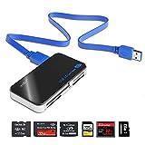 カードリーダー USB3.0 Asltoy® メモリカードリーダ,メモリカードリーダライタ 超高速 SD TF カードリーダー フラッシュ メモリースティック 64メディア microSD MS XD CF M2 カードリーダー