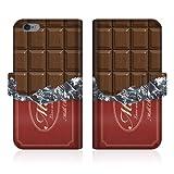 【apple iPhone6 アイフォン6 (4.7インチ)】 【手帳式ケース】 CaseMarket オリジナル デザイン スリムケース 手帳型 ケース [板チョコ コレクション チョコレート ダイアリー]