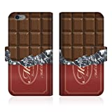 CaseMarket 【手帳型】 apple iPhone 6  (iPhone6) オリジナルデザイン スリム 手帳型ケース [ 板チョコ コレクション チョコレート ダイアリー - カカオ ] iPhone6-VCM2D2263